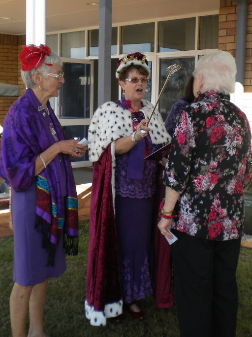 ec9ca857a92 Coronation at Inverpine - The Scarlett Ladies  The Red Hat Society