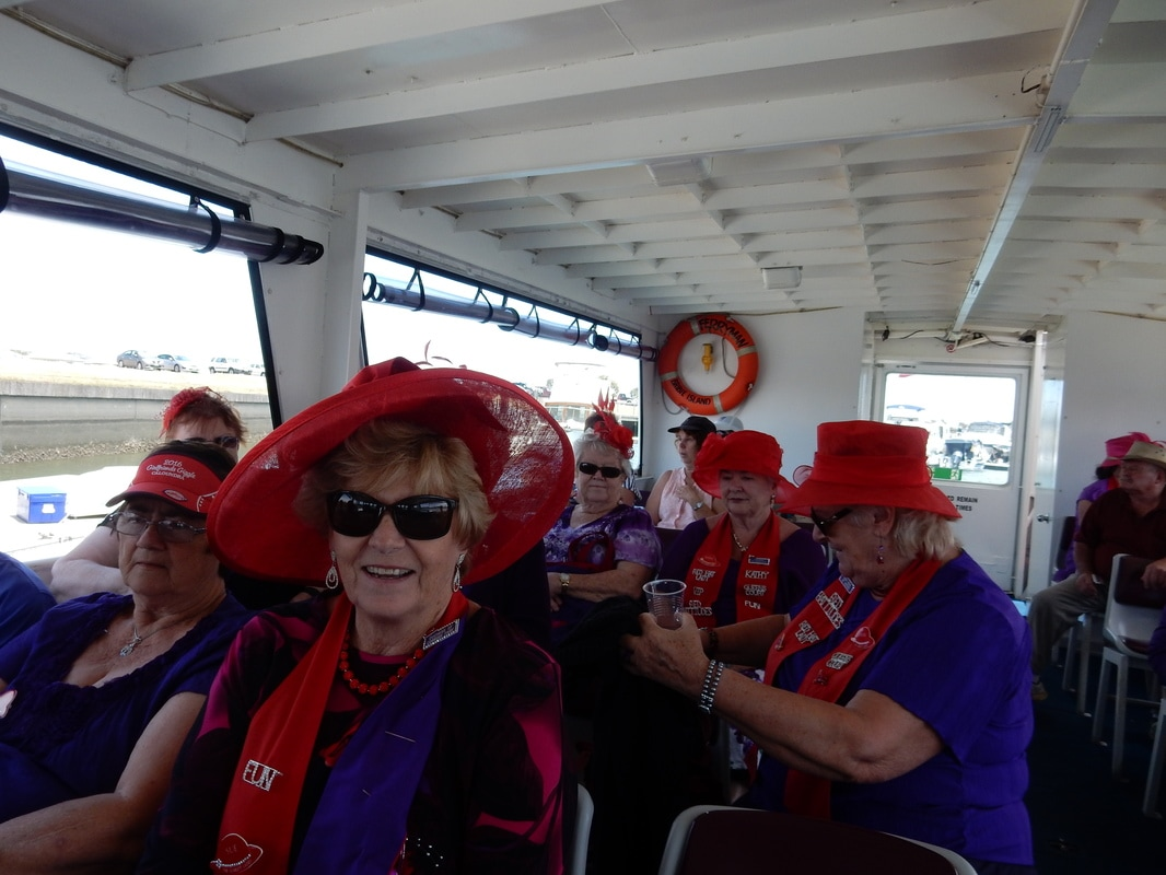 1e7e5999f37 A scenic trip on the Ferryman on the Pumistone Passage was followed by a  Hattitude Ceremony for two new Scarlett Ladies